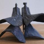 Walking Cloaked Figures IV, 1977 - back side