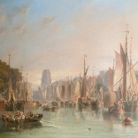 James Wilson Carmichael, Harbour Scene in Rotterdam, The Netherlands