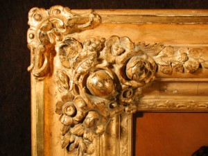 Antique 19th century gilded frame