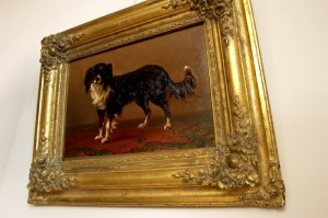 Willem Jan van den Berghe painting in its original 19th century frame