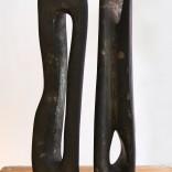 Vadim Sidur, a pair of bronze sculptures